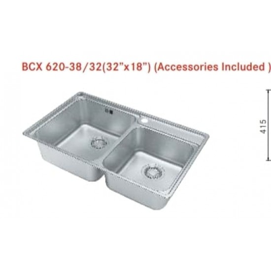 """FRANKE BCX 620-38/32(32""""x18"""") (Accessories Included )"""